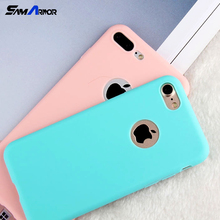 Candy Soft TPU Silicon Phone Cases Coque With Logo Window Accessories for