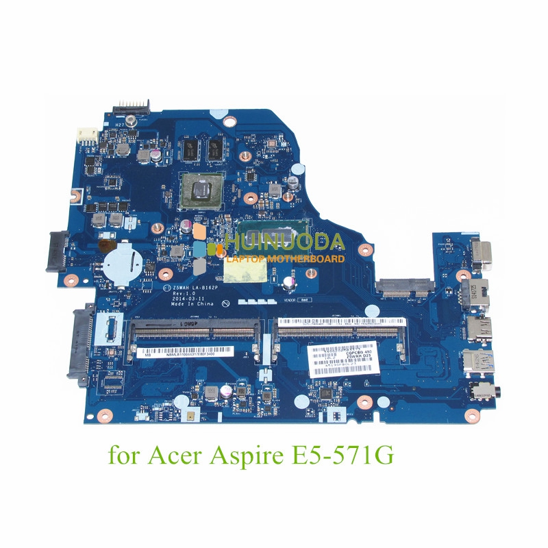 NOKOTION Z5WAH LA-B162P Mainboard for acer aspire e5-571 laptop motherboard i7-4510U DDR3L laptop motherboard fit for acer aspire 3820 3820t notebook pc mainboard hm55 48 4hl01 031 48 4hl01 03m
