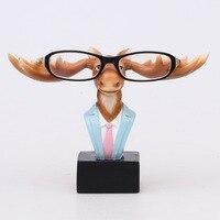 עיצוב מקורי צבי שרף מלאכה יפה בעלי החיים מחזיק משקפיים משקפי שמש משקפיים עומדים בעבודת יד קישוט עיצוב בית פסלון
