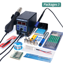 YIHUA 8786D I SMD Soldering Station Double Digital Display Cool Hot Air Gun Soldering Iron 2 in 1 Rework Station