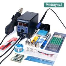 YIHUA 8786D I SMD lehimleme İstasyonu çift dijital ekran serin sıcak hava tabancası havya 2 in 1 Rework istasyonu