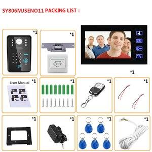 """Image 5 - MAOTEWANG 7"""" RFID Password Video Door Phone Intercom Doorbell With IR Camera 1000 TV Line With NO Electric Strike Door Lock"""