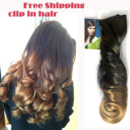 Online shop wholesale 3 pcs lot 20 inches three tone synthetic online shop wholesale 3 pcs lot 20 inches three tone synthetic ombre hair extension high temperature wire clip in hair free shipping aliexpress mobile pmusecretfo Gallery
