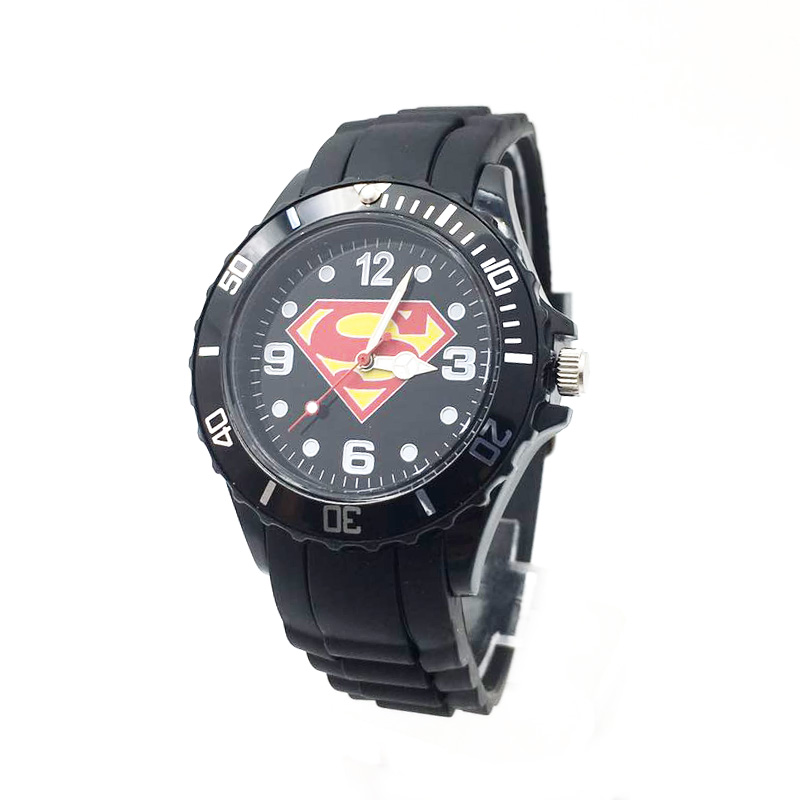 The Avenger Captain America students watches quartz wrist watch for kids cool boys clock black pu strap drop shipping (36)