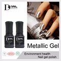 BD 10ml 1pcs/lot luminous gold metallic bling uv gel nail polish metal mirror gold varnishes high quality