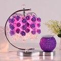 Прикроватная настольная лампа для спальни розовая красная свадебная комната теплая ароматерапия настольная лампа штепсельная лампа креат...