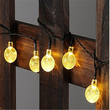 30/50/100Waterproof LED Multi Shape Solar Energy Lamp String Light Outdoor Christmas Wedding Garden Party Decorative Fairy Light image