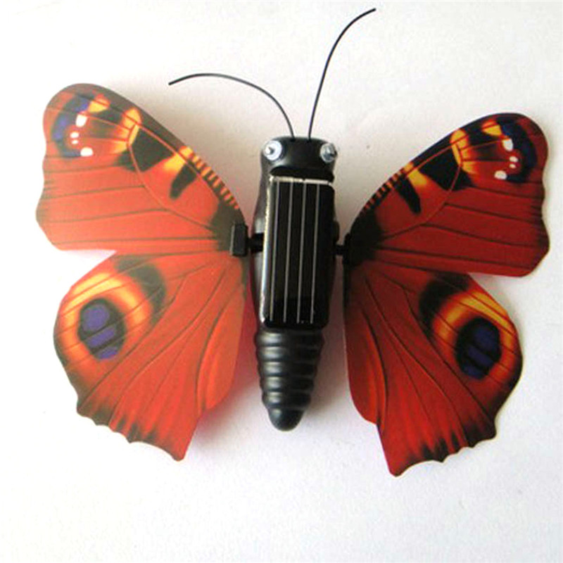 Solar Butterfly Solar Powered Educational Toy For Kids Solar Power Toy Insect Gadget Solar Animals Toys For Children Experiments