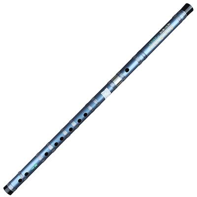 Китайская традиционная бамбуковая двухсекционная синяя флейта под названием Dizi Традиционный Бамбук Flauta для начинающих и любителей музыки - Цвет: D Key
