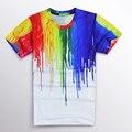 3D Print Melted Crayon T Shirts Multicolor Harajuku Graphic Tee-shirt Fashion Men Women T Shirts Summer Brand Clothes Camisetas
