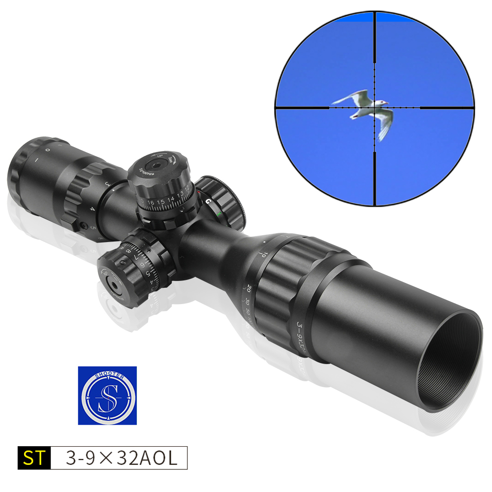 New Aim Optical Sight SHOOTER 3-9X32AOL Riflescope Outdoor Hunting Optics Sight Scope For Travel Chasse Scope Gun Caza Accessory new hot chasse scope 3 9x50aogl outdoor hunting riflescopes tactical optical sight with mount