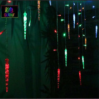 3 5M 96 LED Icicle Curtain Lights Christmas Led Icicle String Fairy Lights For Home Party