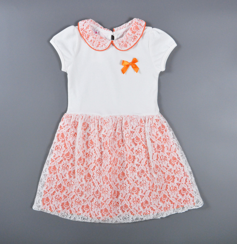 UK Toddler Kids Baby Girl Summer Lace Short Sleeve Party Dress Casual Clothes