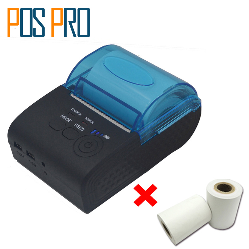 IMP017 Mobile Portable Bluetooth Thermal Receipt Bill Printer Support Android iOS ESC/POS Command Restaurant Supermarket Retail
