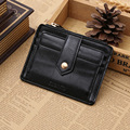 Fashion New Classic Zipper Open Hasp Style Coin Purse Black Brown Photo Bit Credit Card Slots Coins Change Wallet Free Shipping