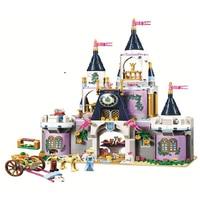 Blocks 10892 Friends Princess Cinderella's Dream Castle Building Educational DIY bricks Toys girls Compatible Legoings