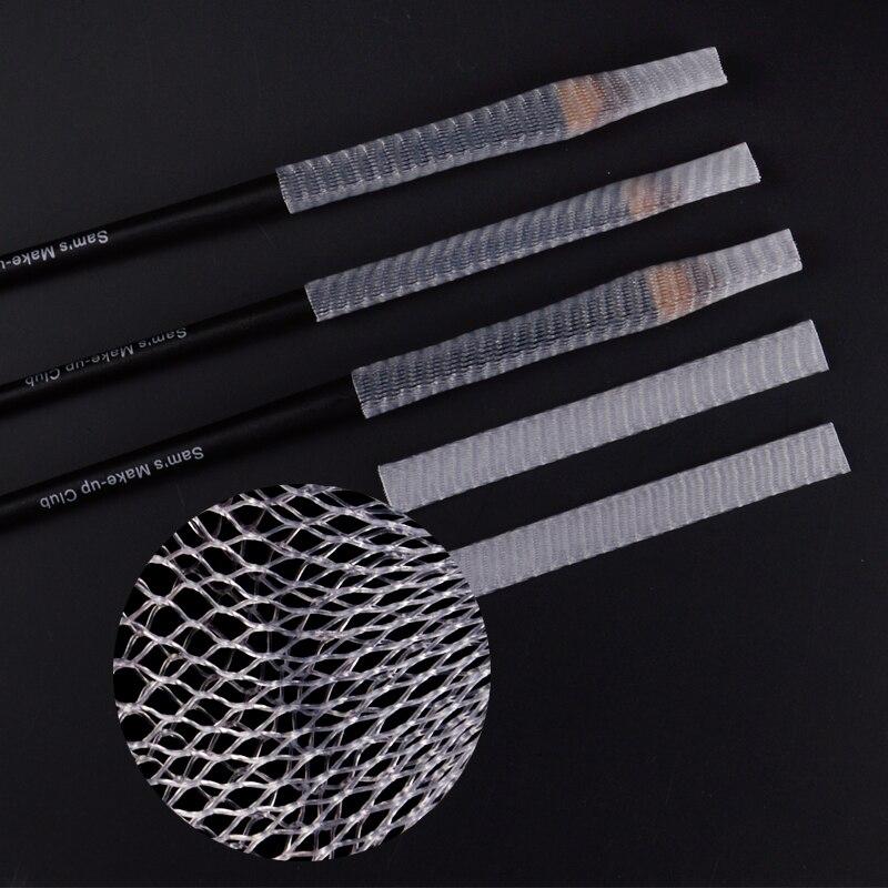 Wholesale 1kg Nylon Sheer Mesh Netting Slip On Make Up Brush Guard Forming Hair Shape Makeup Bristle Protectors