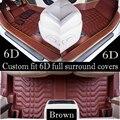 2017 Custon fit 6D longest widest Full surround covers car floor mats for TOYOTA RAV4 Alphard Highlander  Sequoia  Corolla Crown
