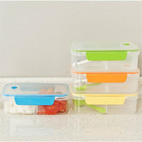 WHISM High Capacity Plastic Bento Boxes Portable Outdoor Office Microwave LunchBox With Spoon and Chopstick Food Containers