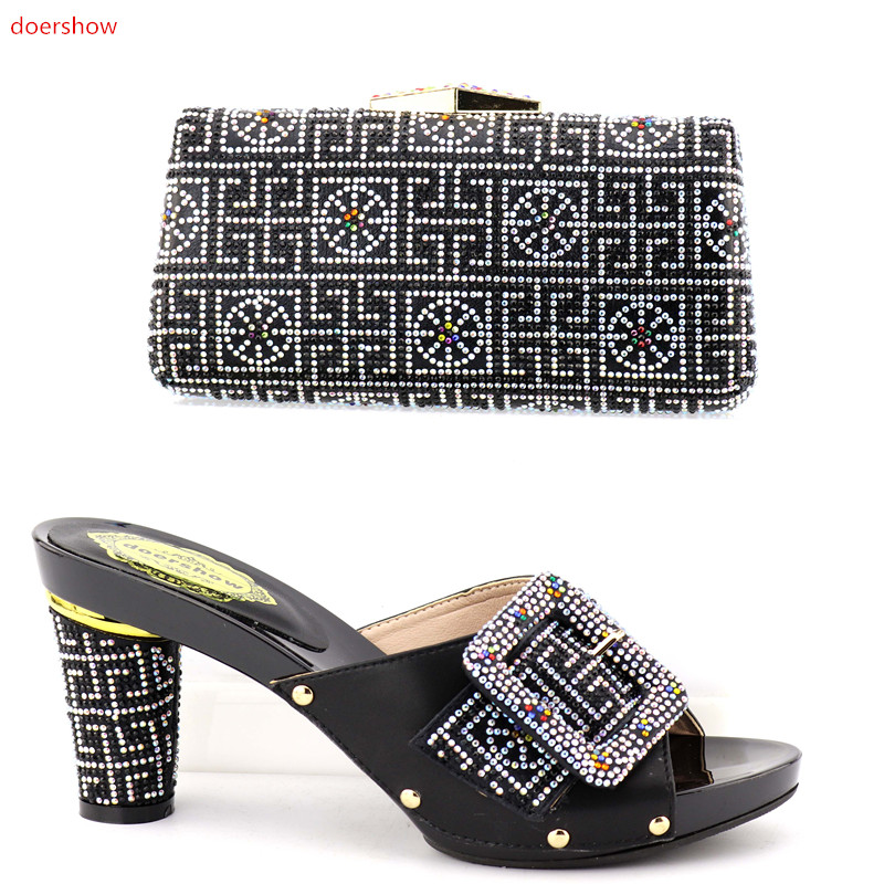 doershow Matching Shoes and Bag Set for Wedding African Women Matching Italian Shoe and Bag Set for Party In Women  OP1-21