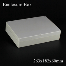 (1 piece/lot) 263*182*60mm Grey ABS Plastic IP65 Waterproof Enclosure PVC Junction Box Electronic Project Instrument Case