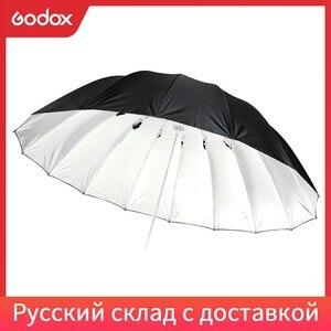 """Image 1 - Godox Studio Photogrphy 70 """"/178 cm argent noir éclairage réfléchissant lumière parapluie"""
