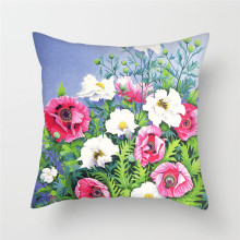 Fuwatacchi Home Decor Floral Cushion Cover Artistic Oil Painting Roses Chrysanthemum Throw Pillow Colorful Pillowcase