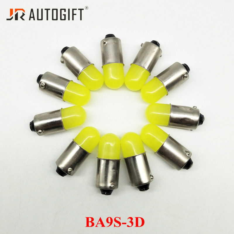 200Pcs 12V 24V BA9S 3D T4W 363 1895 Super Bright Round 3D COB LED Car License