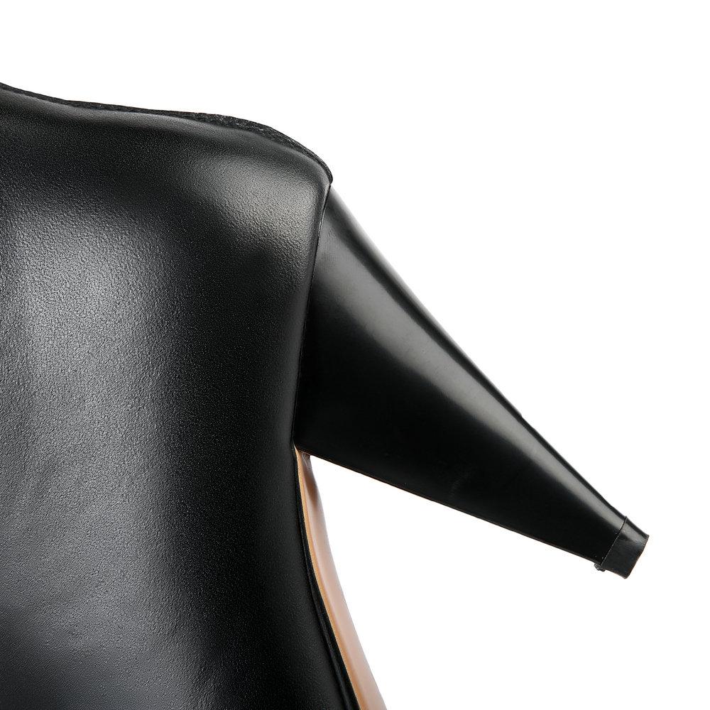 Genou De Talon Bout Pointu Noir En Talons Mode Bottes Spike Métal Haute Black Hauts Véritable Aiweiyi Qualité Nouvelle Cuir xqfFTaO