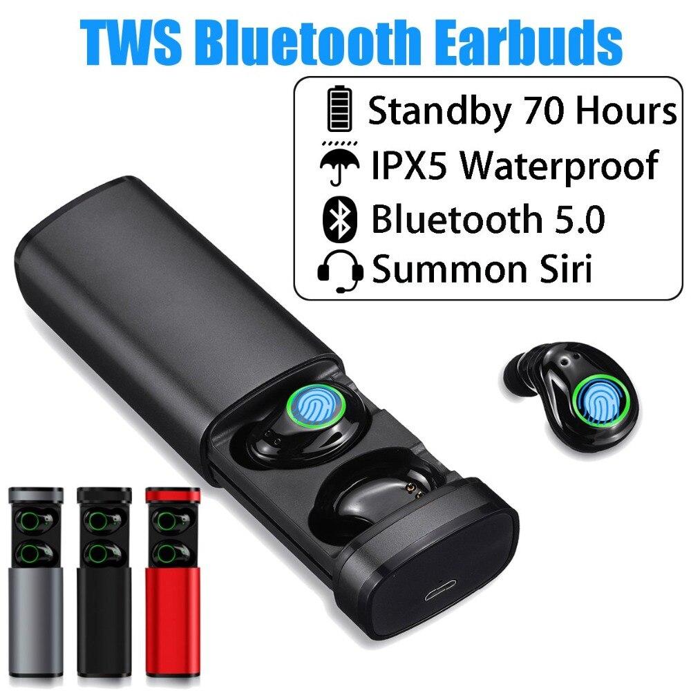Teamyo TWS Bluetooth Earbuds Wireless Heaphones for Smartphone Noise reduction Earphone Headset Sport Stereo Headphone