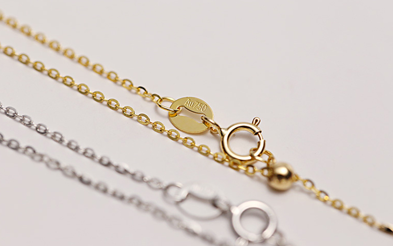 Sinya 18k Classical AU750 Gold Universal Chain 0.8gram Pure Gold Adjustable Chain DIY necklace accessrioes best Gift For Women (4)