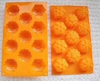 11 cavités flocons de neige outils de cuisson pour gâteaux silicone moule fleur de décoration de gâteau de silicone chocolat moule de sucrerie livraison gratuite