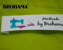 Sewing labels / custom brand labels, clothing fabric 100% cotton, High quality printing, machine (MD0021)