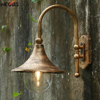 Large Speaker Wall Lamp Waterproof Garden Outdoor Wall Lamp