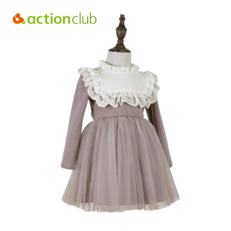 Baby Girl Dresses New Long Sleeves Princess Lace Mesh Dress Girls Party Clothes Autumn Warm Winter Thicken Tutu kids Clothing fashion jacquard spring and autumn long sleeved lace print dress princess party baby girl dresses girl clothes 3 7 yrs