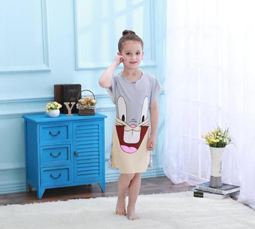 Hot Selling Summer Princess Cartoon Dresses Kids Sleep Dress Cotton Children Nightgowns Lovely Girl Gift Girls Nightdress KH30