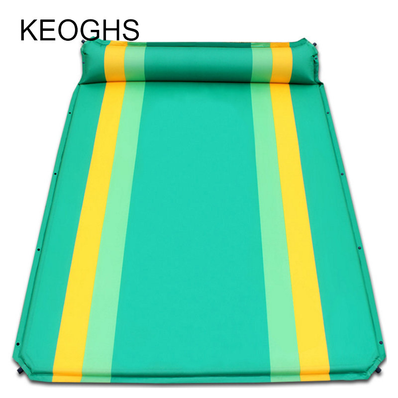 2018 new Camping mat Inflatable mattress inflatable bed double persons household gas filled bed outdoor portable air cushion bed samcamel outdoor camping mat double air mattress inflatable mattress airbed inflatable bed air bed tent folding bed folding bed