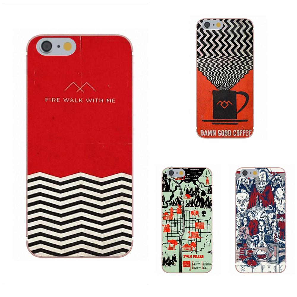 Soft Custom Design For Apple iPhone X 4 4S 5 5C 5S SE 6 6S 7 8 Plus For LG G3 G4 G5 G6 K4 K7 K8 K10 V10 V20 Tv Series Twin Peaks
