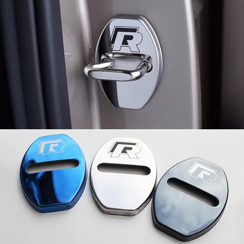 Car-Styling Car Door Lock Protection Cover Case For Skoda Kodiaq Octavia A5 A7 Rapid Karoq Yeti Superb For VW Golf Passat Tiguan