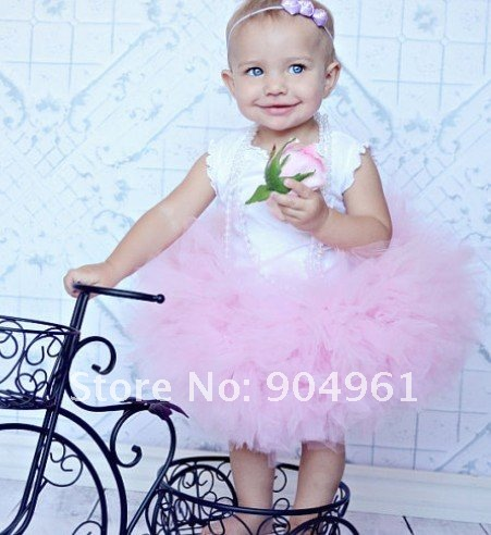 fluffy pink tutu skirt toddler girls birthday skirt party skirt