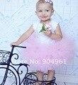 Esponjoso de color rosa falda del tutú muchachas del niño de cumpleaños falda del partido falda falda