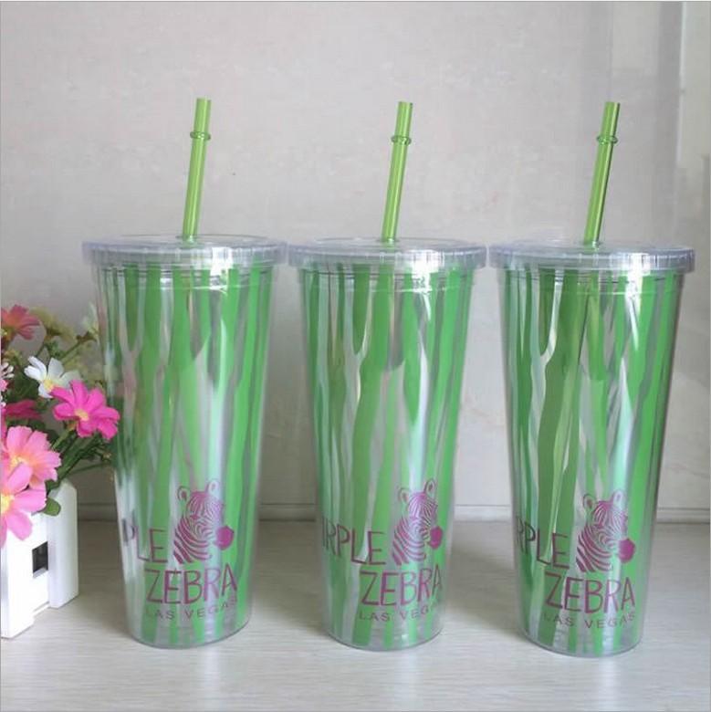 edbd1097f4e NEW Double Wall plasitc Acrylic Tumbler with strip straw,plastic tumbler  16oz INSULATED DOUBLE WALL Acrylic water bottle-in Water Bottles from Home  & Garden ...