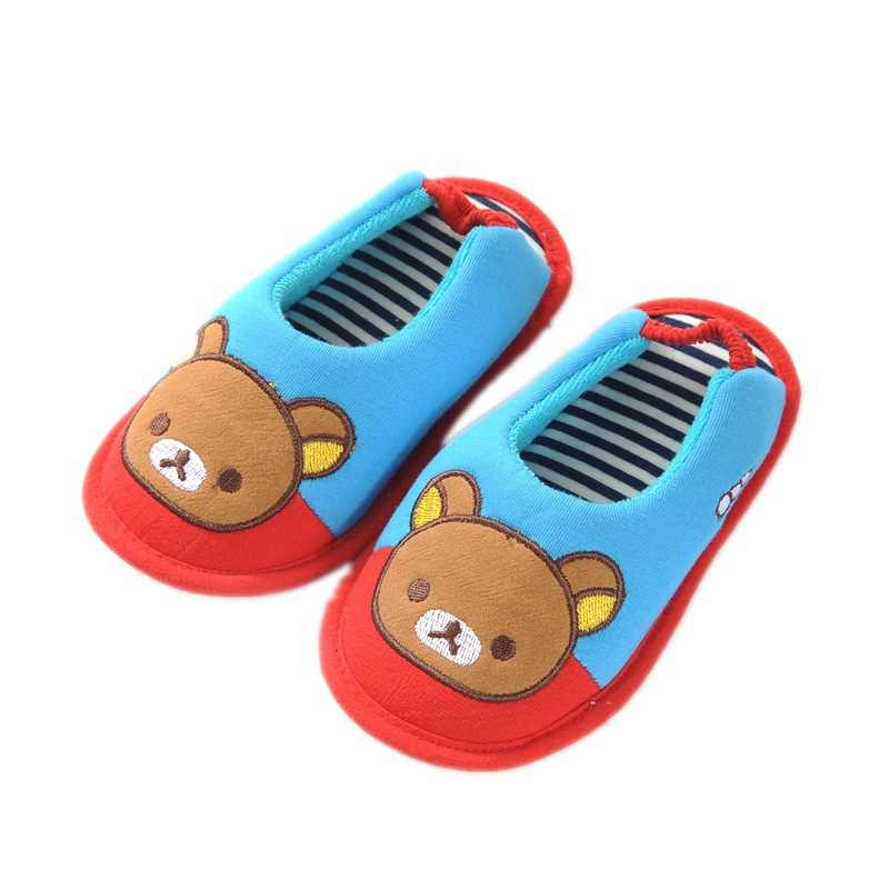 Kocotree Cute Cat Style Kids Slippers Children Home Shoes Baby Shoes For Boys Girls Indoor Bedroom Brand Spring Cotton Slipper