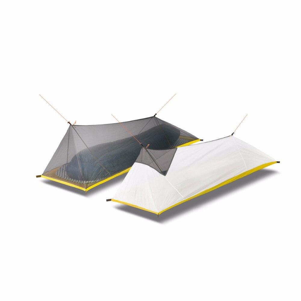 260G ultra-léger extérieur Camping tente été 1 seule personne maille tente corps intérieur tente évents moustiquaire pour pêche touristique