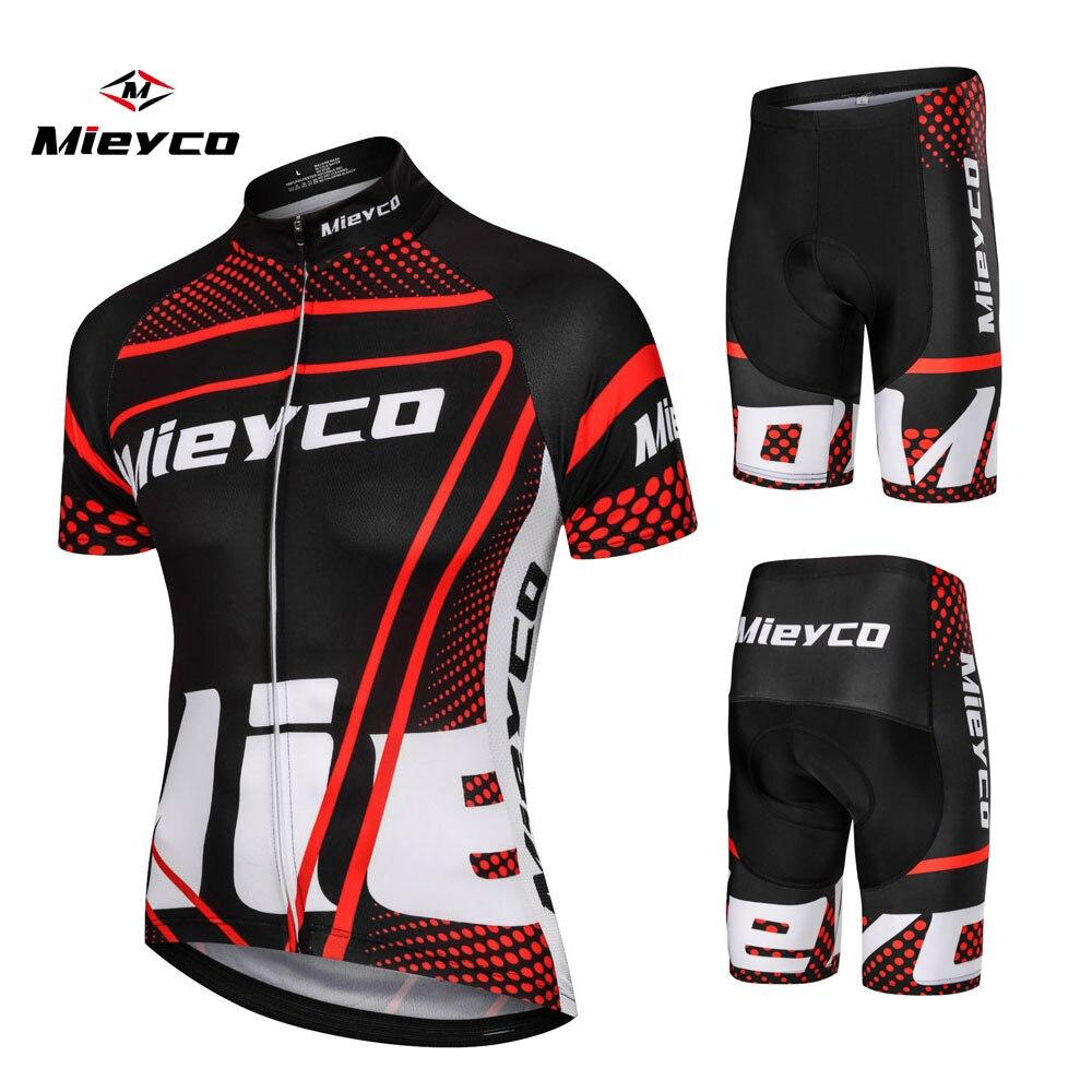 Mieyco 2019 サイクリングmtbマウンテンバイク服男性ショートセットropa ciclismo自転車ウエア服サイクリングドレス男性
