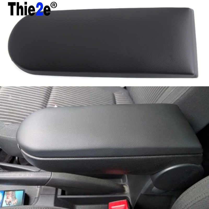 Black Center Console Armrest Cover Lid Fit For VW JETTA GOLF MK4 BORA BEETLE PASSAT B5 VW Polo 6R SKODA OCTAVIA Lavida