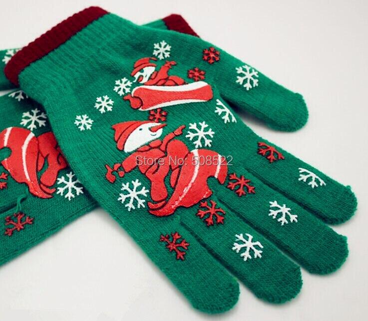 Vánoční dekorace rukavice výrobce sám model Vánoční pletení teplé rukavice Lyžařské Vánoce navrhuje rukavice