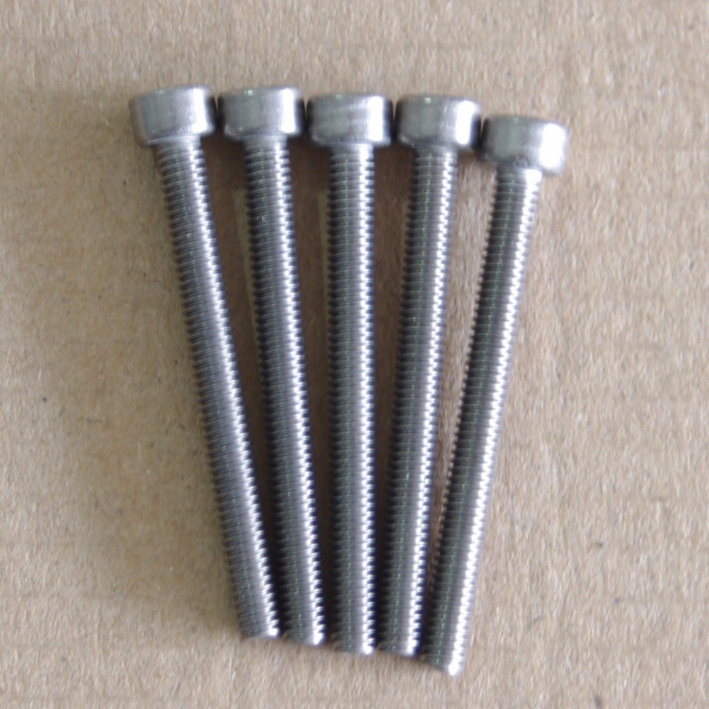 M4 <font><b>M5</b></font> M6 M8 Titanium Ti TA2/GR5 Screws Length 8mm <font><b>10mm</b></font> 15mm 20mm 25mm 30mm 40mm 50mm Cup Head Hex Socket <font><b>Bolt</b></font> Screws Cycling image
