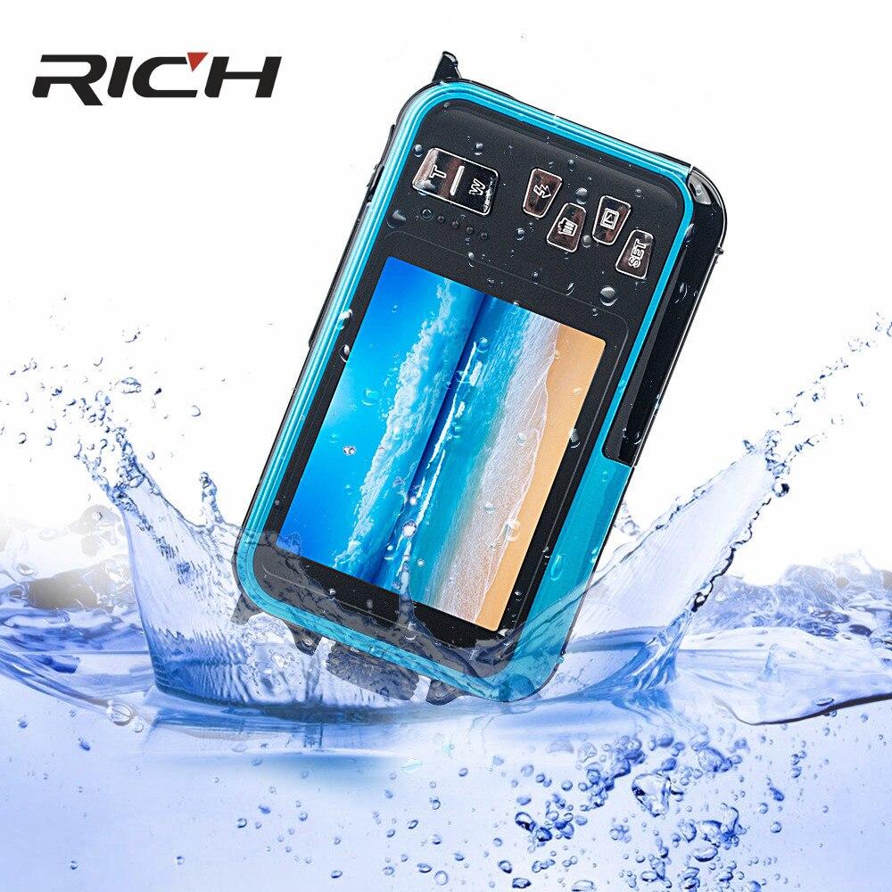 H268 appareil photo numérique 3 M appareil photo étanche 2.7 pouces + 1.8 pouces Double écran Max 24MP 16 fois Zoom numérique caméscope noir