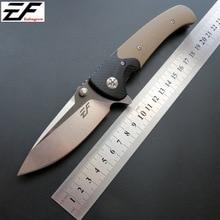 Складной нож D2 стальной нож+ G10 Ручка шарового подшипника Охота Отдых на природе Фрукты Карманный нож для охоты, для выживания инструмент